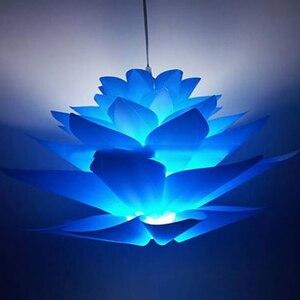 ◆1円スタート◆DIY 簡単組み立て ランプシェード ロータス シャンデリア ランプ ライト 6層 照明 カバー 装飾 インテリア 天井 AT8705