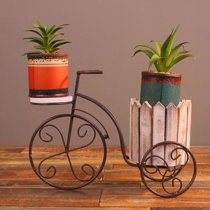 ◆最安にします◆三輪車 プランター 植木鉢 自転車 飾り インテリア 観葉植物 多肉 ガーデニング 庭 リビング 花 スタンド AT7496
