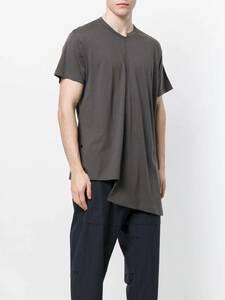 17ss YOHJI YAMAMOTO REGULATION POUR HOMME Tシャツ カットソー RE-ナナメハギ半袖 HW-T55-274 ヨウジヤマモト レギュレーション グレー