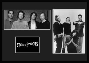 10種類!Stone Temple Pilots/ストーン・テンプル・パイロッツ/ROCK/ロックバンド/証明書付きフレーム/BW/モノクロ/ディスプレイ(7-3W)