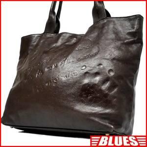 即決★DAKOTA★オールレザートートバッグ ダコタ メンズ 焦茶 ロゴ型押し 本革 ハンドバッグ 本皮 かばん 通勤 レディース 出張 カバン 鞄