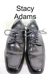 【メンズ】【良品保証返品OK】Stacy Adams 20117ドレスシューズ/ブラックレザー美品26