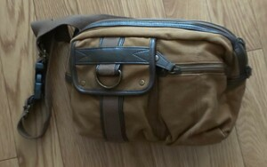 ウエストバッグライダース ウエストポーチ カーキ茶色 メンズバッグ ショルダーバッグ