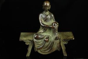 【最上】初出し 極上 希少品 僧侶 仏教 金工細工 古銅製 置物 盆景 煎茶道具 古美術品