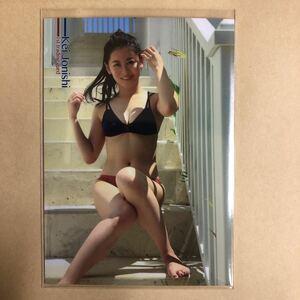 NMB48 上西恵 トレカ アイドル グラビア カード 水着 RG47