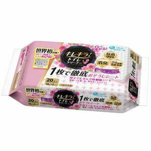 大王製紙 エリエール キレキラ トイレクリーナー ハッピーローズの香り 詰替用10枚入り 2パックX10個