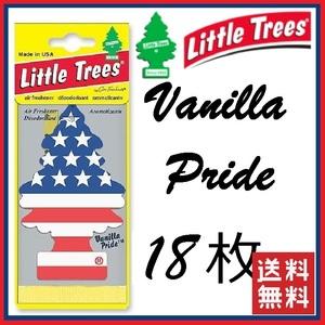 [最安保証・送料無料]Little Trees Vanilla Pride リトルツリー バニラ プライド 18枚セット エアフレッシュナー 芳香剤 USDM 消臭剤 tree