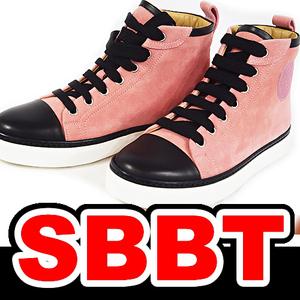 【SBBT】  HERMES エルメス ハイカット スニーカー ピンク×黒 スエード×レザー ♯35 1/2 22.5cm レディース 靴 本物 未使用