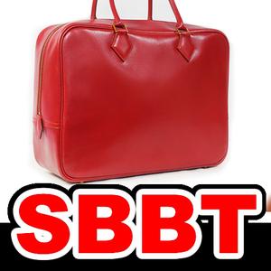 ●【SBBT】 HERMES エルメス プリュム32 赤 ボックスカーフ G金具 □B刻印 プリュム 28 ゴールド金具 プリュム 32 本物
