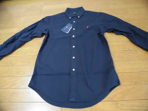*[ new goods ] Polo Ralph Lauren men's shirt long sleeve navy ga- men to large do oxford shirt US size XS*