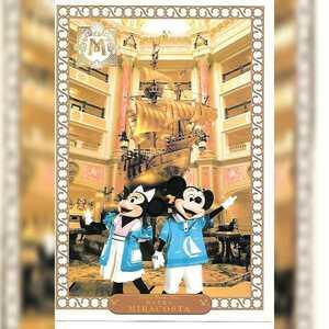 完売【新品未使用】東京ディズニーシー ホテル ミラコスタ ポストカード ミッキー ミニー ホテルロビー レストラン TDS TDR character