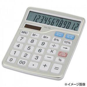 OHM 中横型電卓 税率切り替え 12桁 KCL-103(a-1660829)