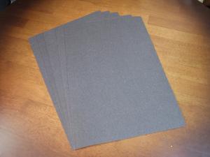 ハンドメイド・クラフト用芯材 不織布(黒) A4サイズ 5枚セット