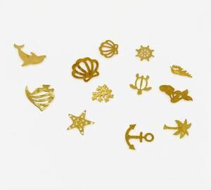ジェルネイル セルフネイル ネイルパーツ マリン 海 シェル イルカ ウミガメ マーメイド 等 12種類セット ケース付き
