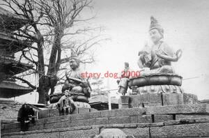 複製復刻 絵葉書/古写真 東京 浅草寺の濡れ仏 明治期 Y_036