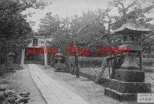 複製復刻 絵葉書/古写真 東京 向島 隅田川 三囲稲荷神社 明治期 WA_091