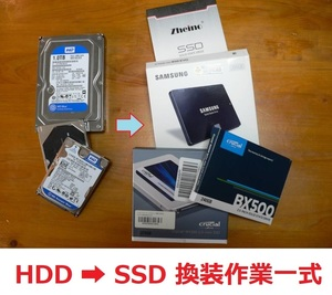 hard disk HDD.SSD. exchange exchangeable work complete set Windows / Mac( exhibition that 29) work after reply postage included!