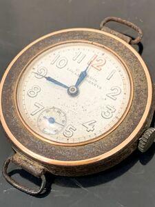 (kオ-2) ユリスナルダン K18 手巻き 動作品 レトロ アンティーク ヴィンテージ 腕時計 ケースのみ
