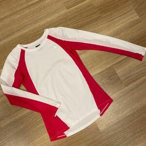 ノースフェイス 長袖Tシャツ ザノースフェイス ピンク 白 UV サムホルダー トレーニングウエア レディースS