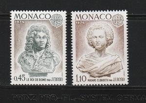 《n-323》モナコ / 1974年・ヨーロッパ切手2種完