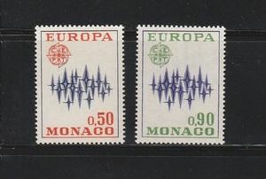 《n-351》モナコ / 1972年・ヨーロッパ切手2種完