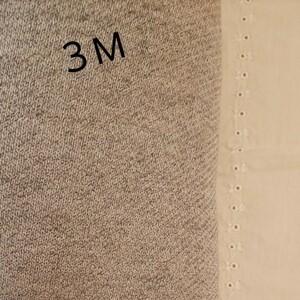 ニット生地 綿100% 杢グレー 生地巾約115cm×約3m