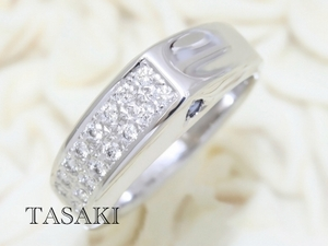 ★TASAKI田崎真珠★K18WG サファイア ダイヤモンド リング