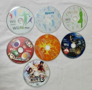 Wii ウィイ スポーツ/フィットプラス /マリオブラザーズ/デカスポルタ2/戦国無双 7個