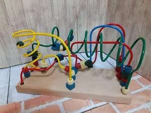 ハンドメイド 手作り ウッド 木工 子どもの知育玩具 手遊び トレーニング ルーピング風 type1