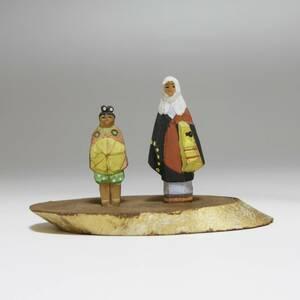 彩] 牛若丸?/うしわかまる 源義経 木彫彩色 高さ約:4.5cm 木彫り人形