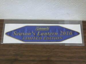 コールマン シーズンズランタン 2010 ステッカー 新品未使用 廃盤 希少