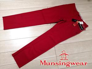 ◆新品 マンシング Munsingwear モーション3D ノータック ストレッチ ゴルフパンツ メンズ 88 レッド 赤 定価18,700円 スラックス