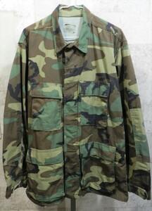 美品 実物 86年 米軍 U.S.ARMY ウッドランド カモフラ BDU ジャケット M-R 迷彩 メンズ アーミー ミリタリー アメリカ軍