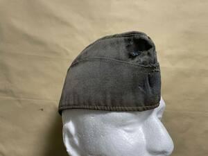 ドイツ軍 ドイツ空軍 代用品 オーバーシースキャップ 略帽 シッフェン 改造ベース品 ルフトヴァッフェ 中古品 D