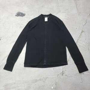 送料無料 Y's YOHJI YAMAMOTO ワイズ ヨウジヤマモト ジップ スウェット ジップアップ 羽織 ブラック 系 サイズ 3