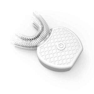 【2個】新しい電動歯ブラシV-white超音波自動歯ブラシ360°包囲清掃【ホワイト】+【おまけ2本】2in1ライトニングケーブル