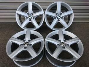 美品 VW フォルクスワーゲン 純正アルミホイール ASPEN 6.5JX16 (+33) PCD112 5穴 4本 シャラン スタッドレス