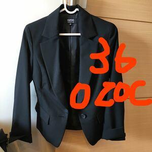テーラードジャケット オゾック ワールド スーツ ジャケット 36号 S相当 黒