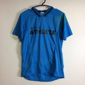 ATHLETA アスレタ 速乾半袖シャツ Mサイズ ブルー プラクティスシャツ