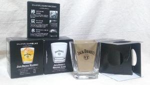 【ミニロックグラス】『未使用品』 JackDaniels ジャックダニエル オリジナルグラス グラス4点 非売品 ・(管理)201223-12末-2