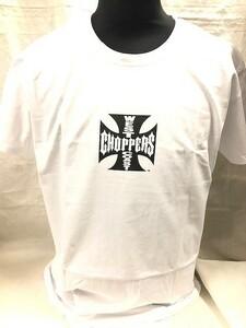 WEST COAST CHOPPERS ウエストコーストチョッパーズ 半袖 Tシャツ ホワイト×ブラック