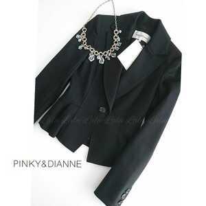 PINKY&DIANNE ピンキー&ダイアン テーラードジャケット ジャケット アウター スーツ レディース ブラック 黒 34