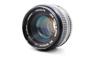 ★MINOLTA ミノルタ MC ROKKOR-PF 50mm F1.7