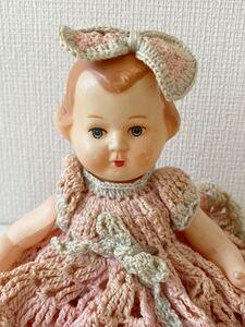 ヴィンテージ 可愛いセルロイドの女の子 #1 セルロイド レトロ