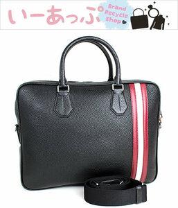 バリー ビジネスバッグ ブリーフケース 書類かばん トートバッグ 黒 ブラック BALLY 新品同様 n822