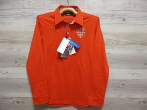 定価14000円 未使用 M 長袖 ポロ シャツ KAPPA GOLF ITALIA カッパ イタリア ゴルフ 日本製 紳士 メンズ フェニックス オレンジ 新品X