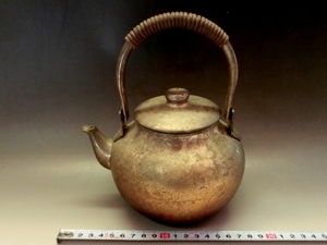 やかん■急須 モール薬缶 煎茶道具 お茶道具 古美術 時代物 骨董品■