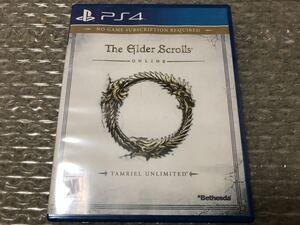 PS4 海外版ソフト the elder scroll online tamriel unlimited 即決!国内本体動作可 送料無料 北米版