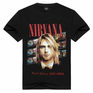 NIRVANA カートコバーン Tシャツ ニルヴァーナ Tee 半袖Tシャツ Kurt Cobain