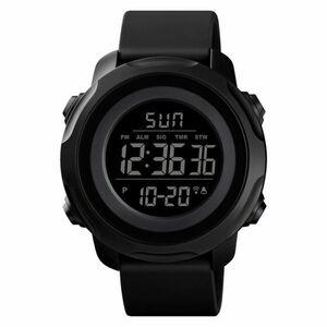 スポーツウォッチメンズウォッチレディース用高級ミリタリーデジタルウォッチ防水クロノ腕時計メンズレディースブレス All black